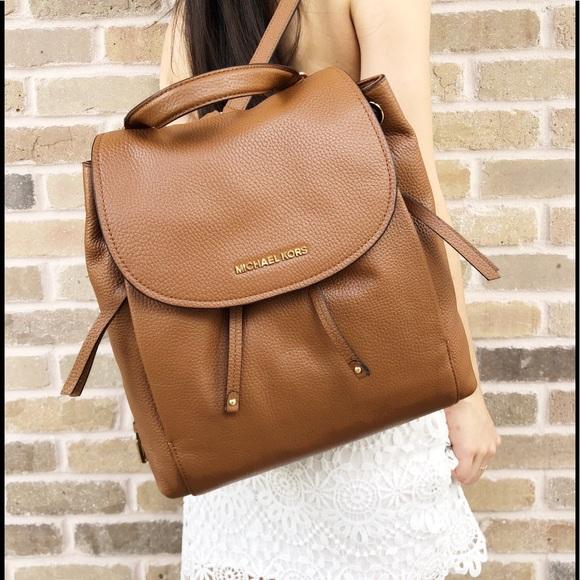 4781fe11b0b1 Michael Kors Bags | Riley Large Leather Backpack Brown | Poshmark